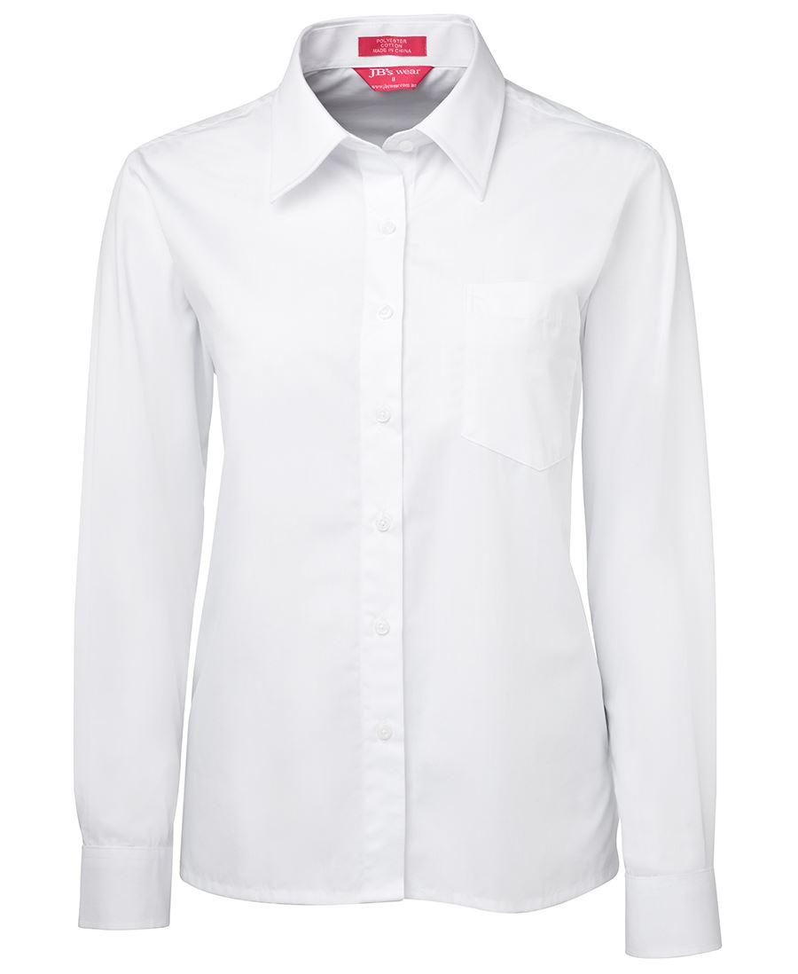 KDARC White Ladies Long Sleeve Shirts